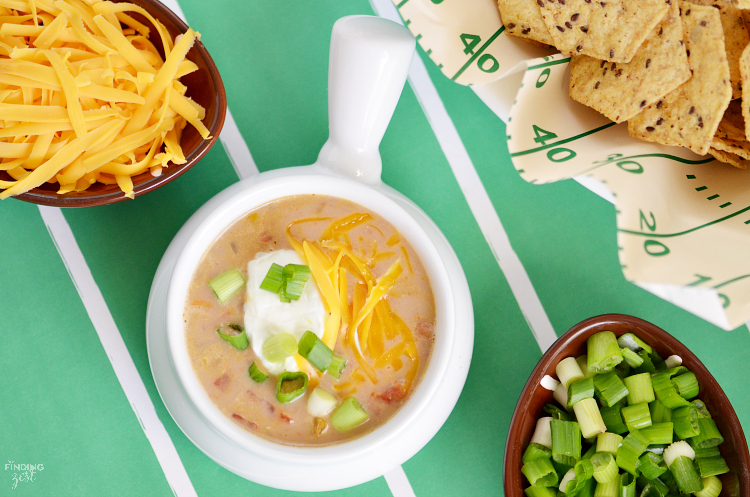 This Easy Southwestern Chicken Soup is loaded with flavor but takes little time to make. Whether you make it spicy or mild, it is sure to win the crowd on game day or any day of the year!