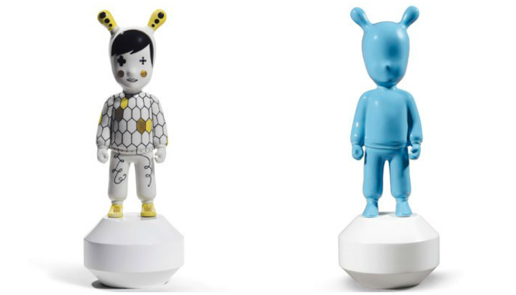 Lladro The Guest and The Guest Blue Spanish Porcelain