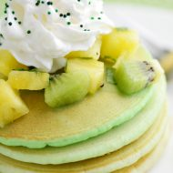 Green Ombre St. Patrick's Day Pancakes with Fruit Salsa
