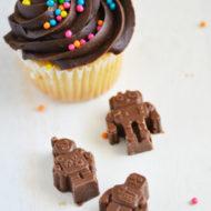 Chocolate Robot Cupcake Topper