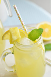 This homemade Pineapple Meyer Lemonade is a refreshing spring drink option using Meyer lemons and simple syrup. Serve it for Easter, Mother's Day or your next celebration!