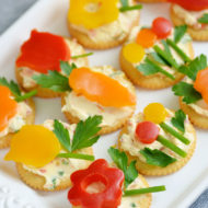 Easy Spring Appetizer with Veggie Flowers