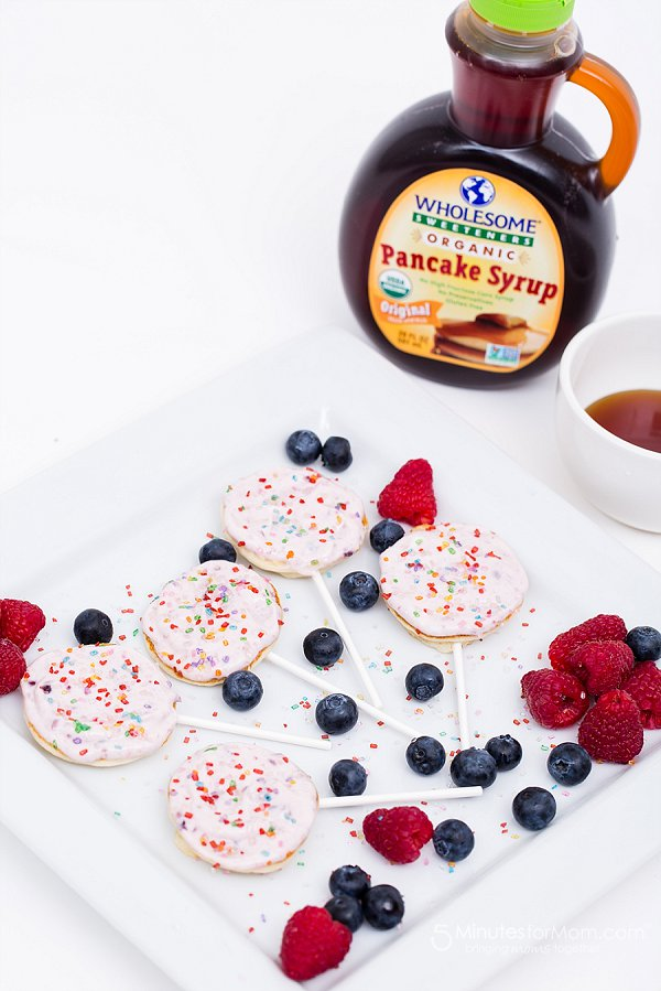 Lollipop Pancakes: Get over 75 great foods with sprinkles including fun party ideas, easy recipes, homemade, gluten free and more! Make every day feel like a party with these cakes, cupcakes, cookies, drinks, breakfast foods, snacks, frozen treats and more!