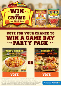 RoTel Rosarita Win the Crowd on Game Day Sweepstakes