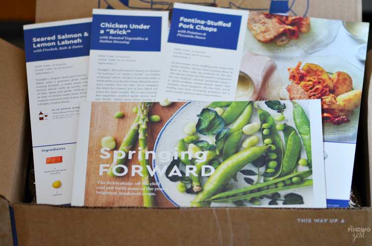 Blue Apron helps you cook incredible meals from scratch with perfectly portioned ingredients and step-by-step recipes, allowing you more free time! Come see my experience using this delivery service!