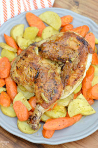 Chicken Under a Brick: Blue Apron helps you cook incredible meals from scratch with perfectly portioned ingredients and step-by-step recipes, allowing you more free time! Come see my experience using this delivery service!