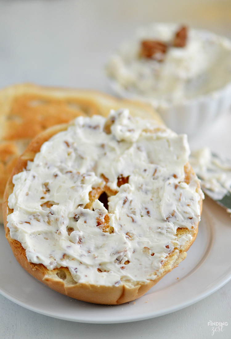 Ever wonder how to make honey nut cream cheese? Homemade is definitely the best and itsuper easy with this 3 ingredient recipe!