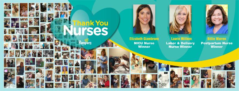 Pampers Thank You Nurses Award Winners