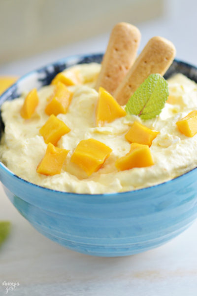 Mango Fruit Dip Served Two Ways!