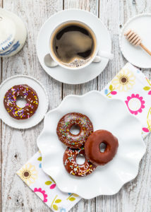 Eggless Chocolate Cake Donuts: Get over 75 great foods with sprinkles including fun party ideas, easy recipes, homemade, gluten free and more! Make every day feel like a party with these cakes, cupcakes, cookies, drinks, breakfast foods, snacks, frozen treats and more!