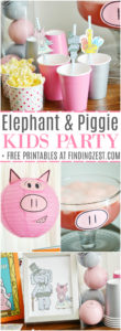 It's an Elephant & Piggie party, including free printables! We are celebrating the 10th anniversary of this fun book series by Mo Willems with piggie punch, books & fun decor!