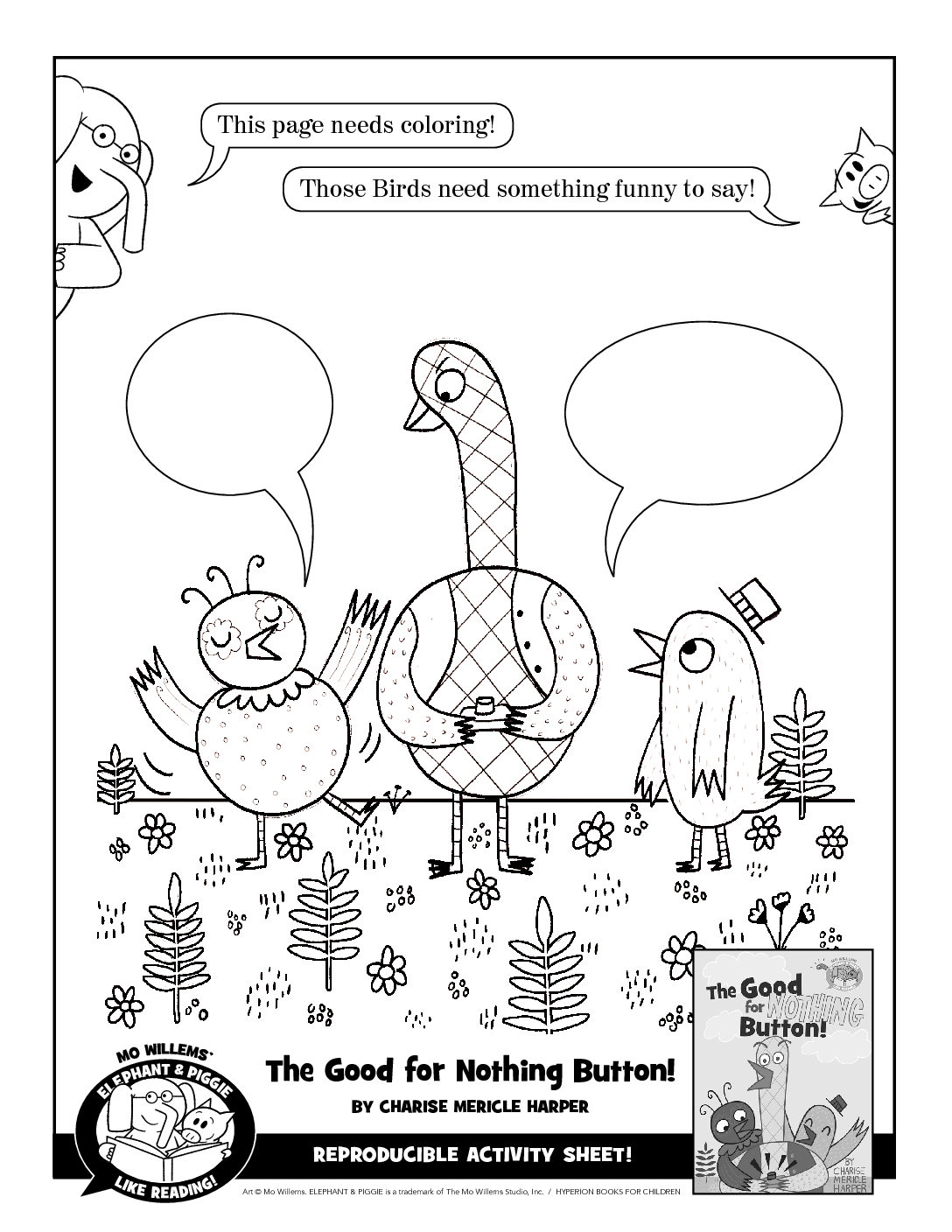 - Elephant And Piggie Like Reading Activity Sheets - Finding Zest