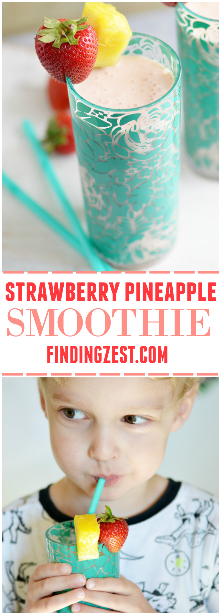 Learn how to keep your produce fresh longer, plus get a recipe for a refreshing strawberry pineapple smoothie. It is a perfect breakfast or snack option!