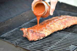 Making a homemade barbecue sauce has never been easier! Load it up on your favorite meat like ribs or chicken for some tasty BBQ!