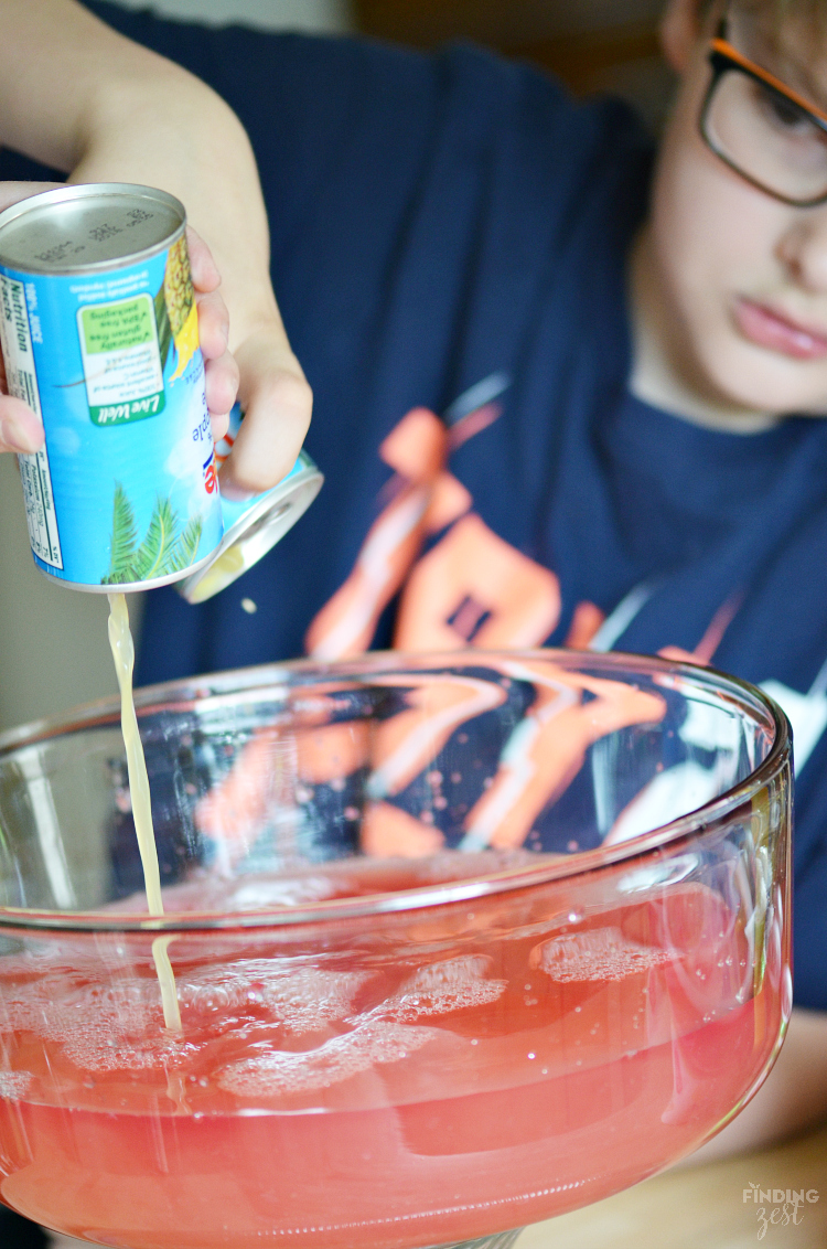 Sherbet party punch is always a crowd favorite and is super easy to make. Try this pink Strawberry Sherbet Punch for your next celebration!
