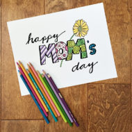 Happy Mom's Day Coloring Page Free Printable