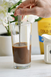 Making delicious iced coffee at home is easier than ever! Check out this coffee drink recipe for an Iced Mint Mocha with only 4 ingredients.