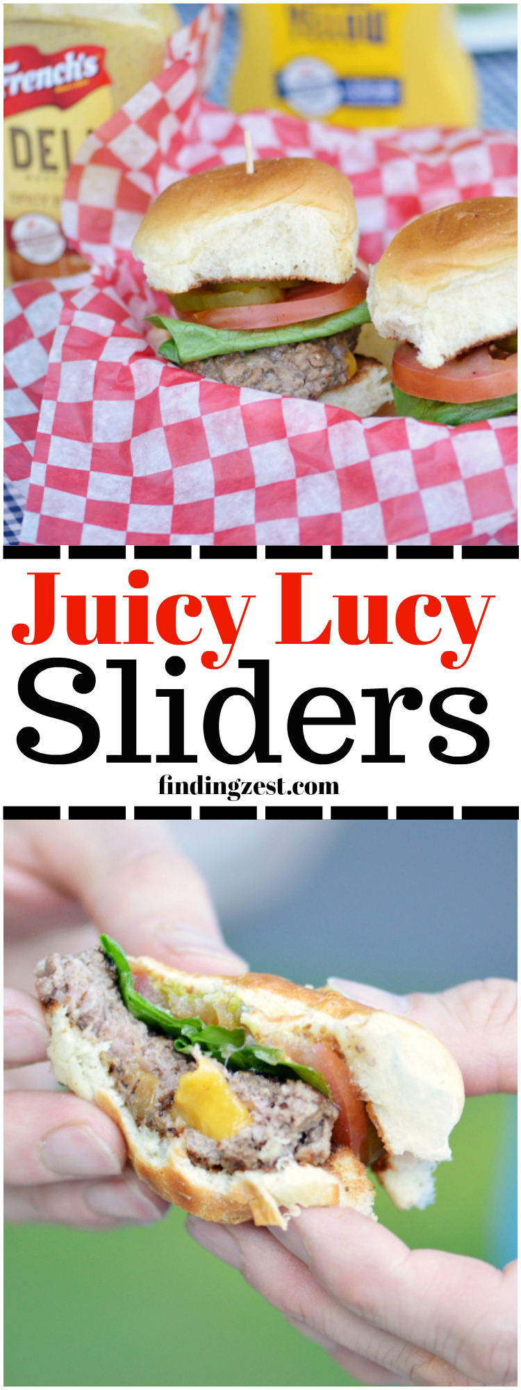 Enjoy melted cheese in the center of your hamburger patty with this delicious mini Juicy Lucy sliders recipe. Don't forget the mustard!