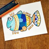Father's Day Coloring Page Free Printable: We Love You Dad