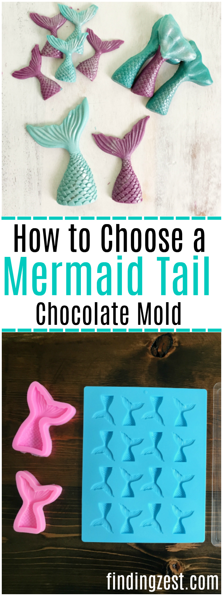 Want to make chocolate mermaid tails but are not sure which mermaid mold is right for your project? See how several different molds compare! Perfect for birthday parties and mermaid treats.