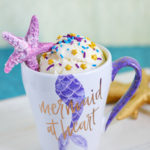 Mermaid Confetti Mug Cake