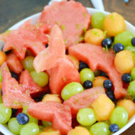 Under the Sea Mermaid Honey Lime Fruit Salad