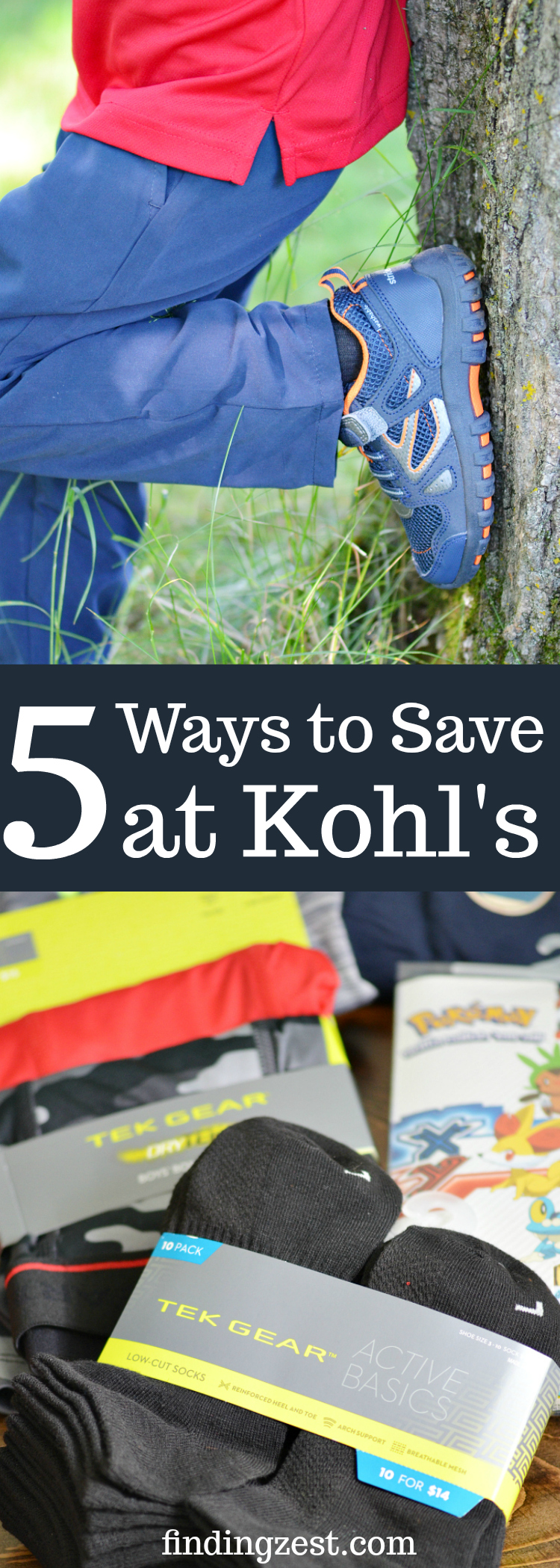 Learn 5 easy ways to save at Kohl's and get the best deals for back to school! Score awesome apparel, shoes and other necessities to bring your A game to win the first day of school.