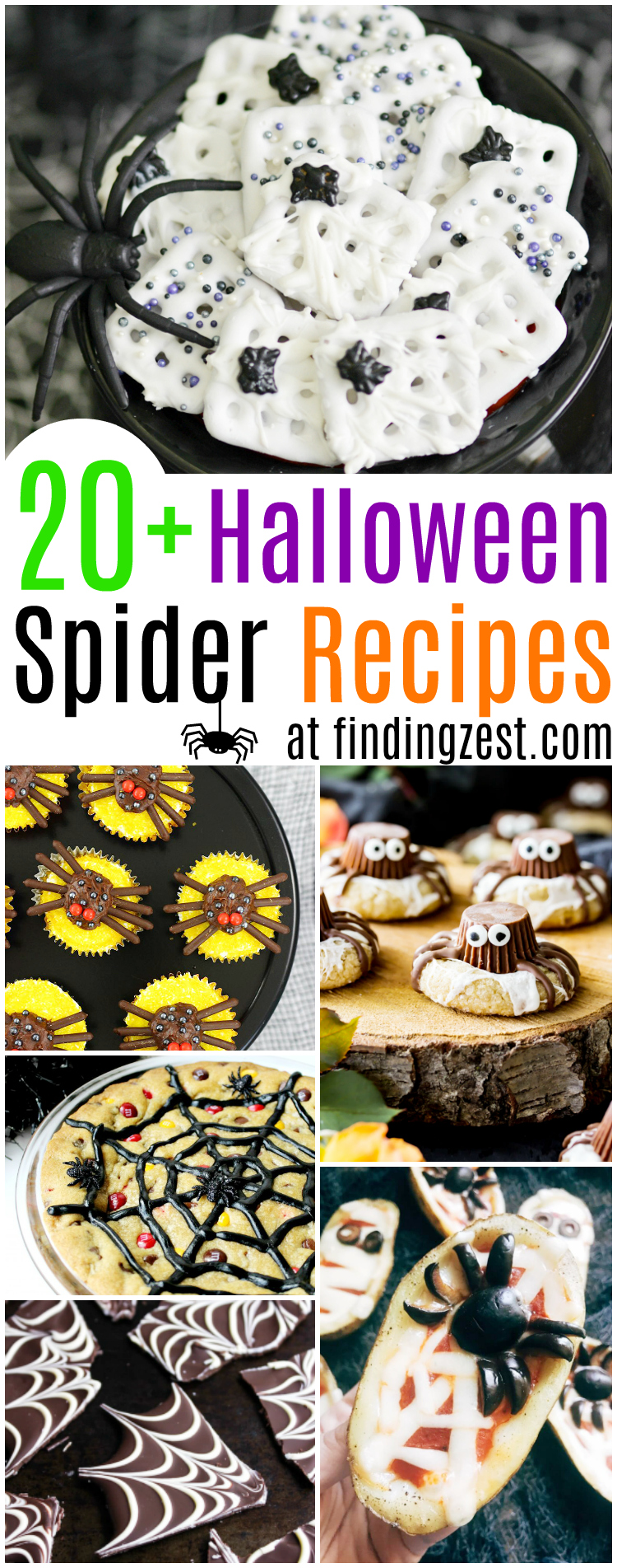 over 20 spooky halloween spider recipes you can't resist - finding zest