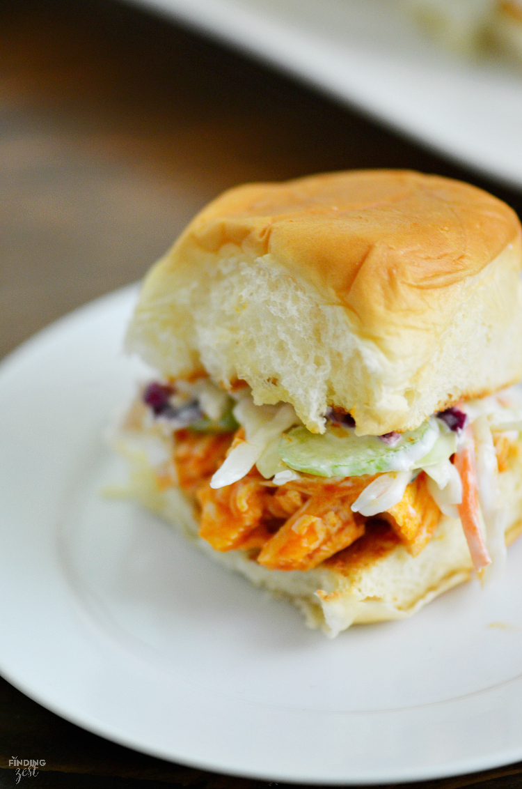 recipe: easy buffalo chicken sliders [36]