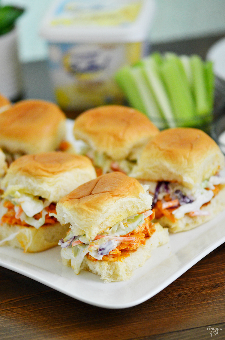 recipe: easy buffalo chicken sliders [17]