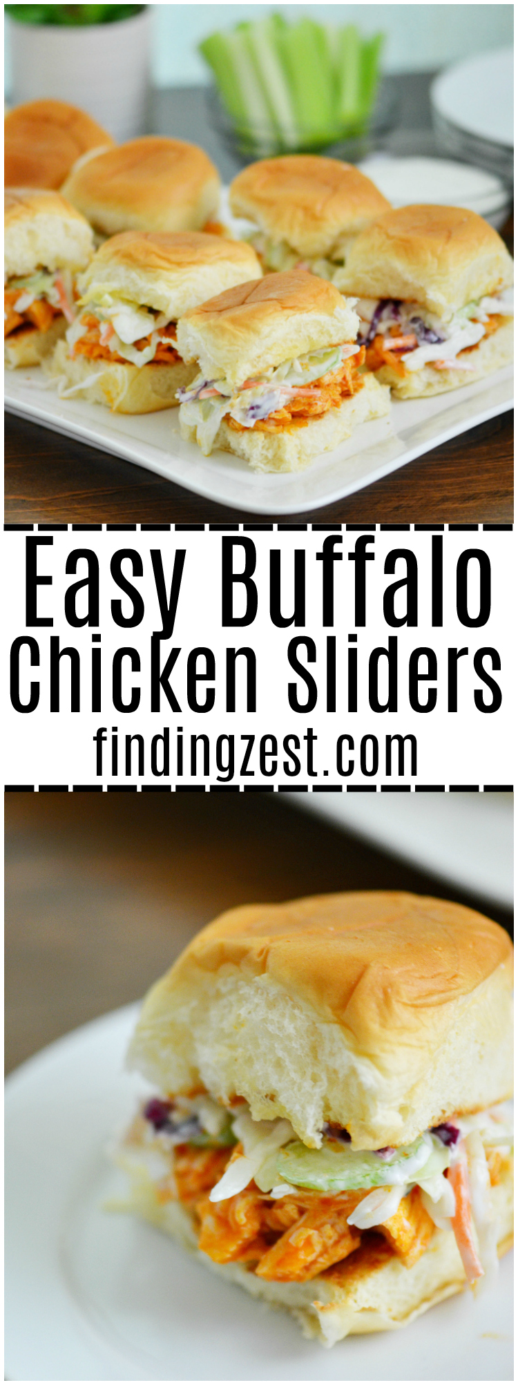 recipe: easy buffalo chicken sliders [31]