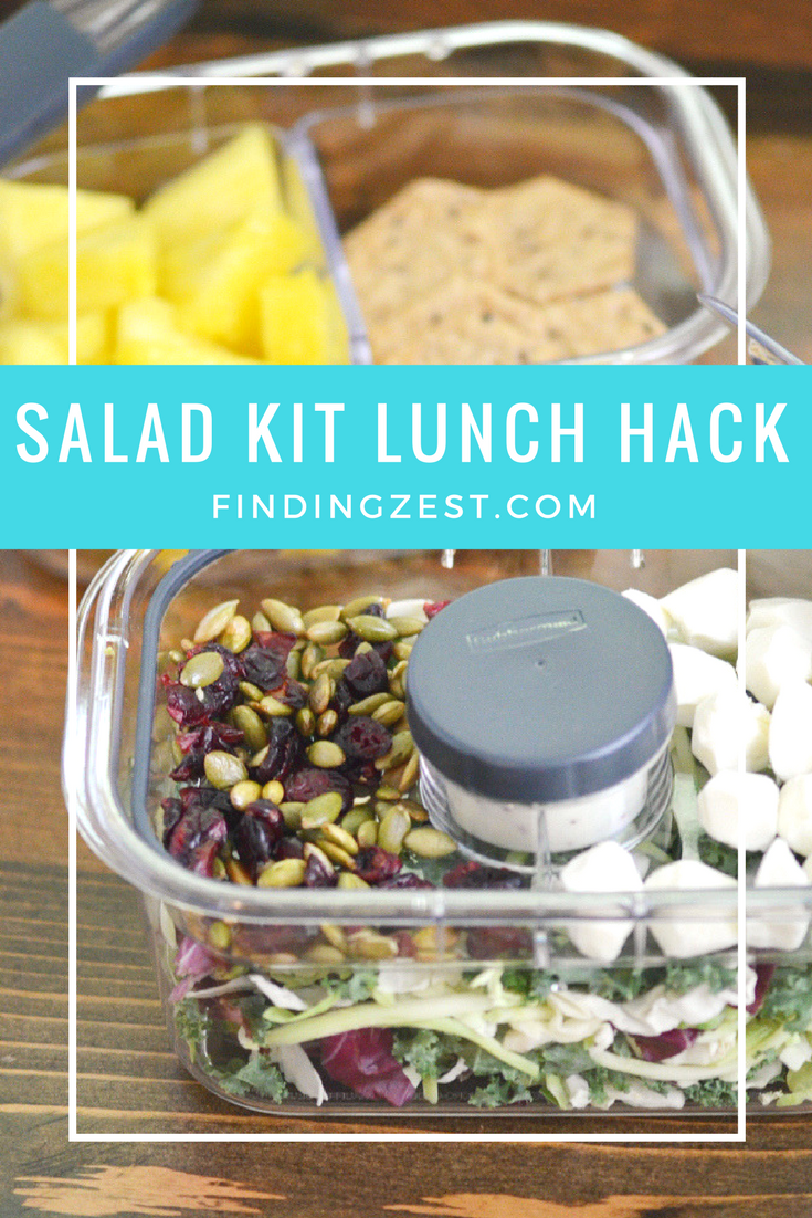 Lunch got you stumped? Try this salad kit lunch hack for a healthy and fresh lunch option on the go with Rubbermaid!