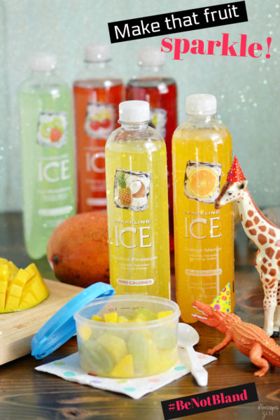 Be not bland for back to school! Take that homemade fruit cup to the next level and make it sparkle with your favorite flavor of Sparkling Ice!