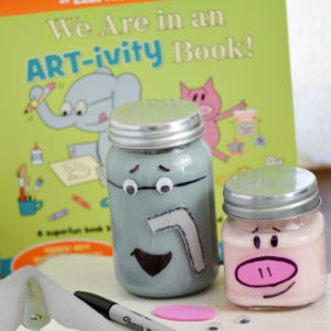Elephant and Piggie Slime Jars: Art-tivity Inspired Craft