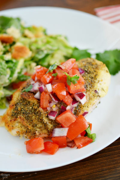 Parmesan Crusted Bruschetta Chicken: Easy Weeknight Dinner