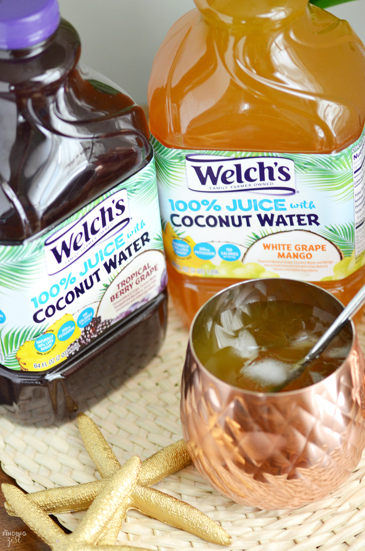 Welch's offers all the benefits of coconut water without the taste in this brand new product. It mixes 100% juice with coconut water for 30% less sugar!