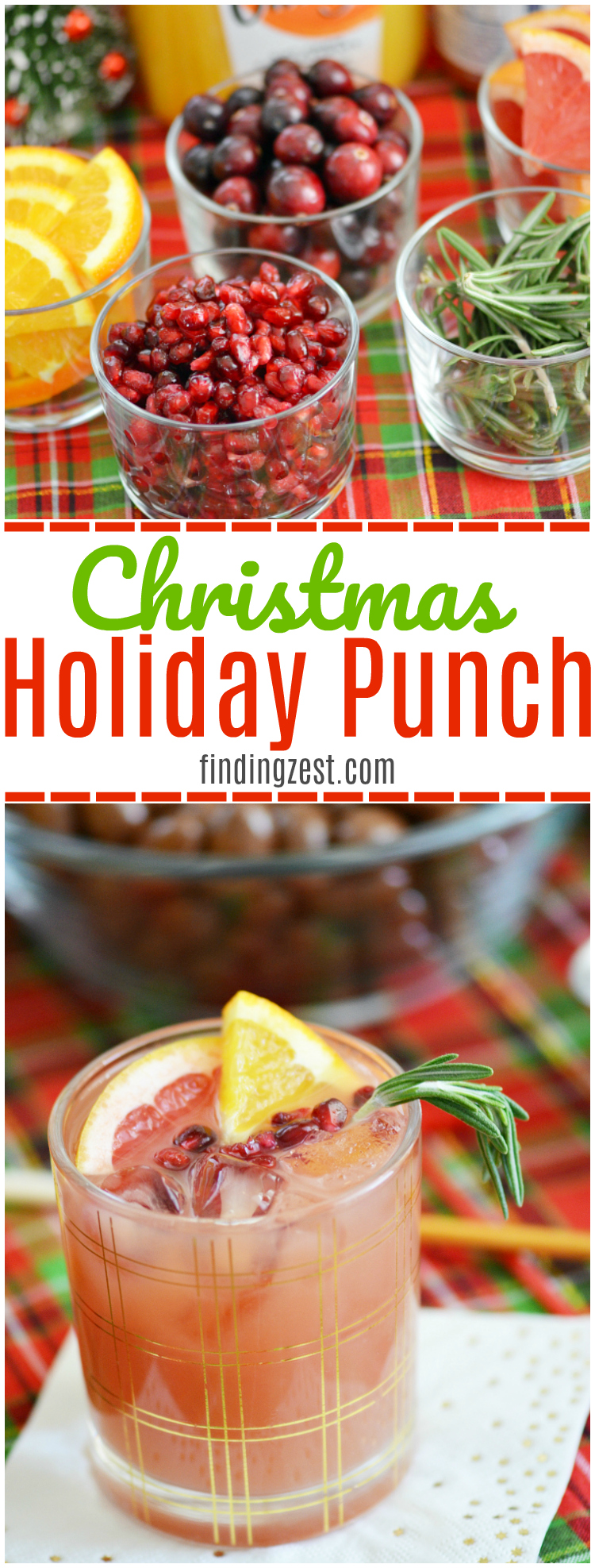 This Christmas Holiday Punch is so easy and refreshing! Wow your guests any time of day with a holiday drink and snack buffet, including this awesome punch recipe and flavorful snack mixes!