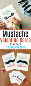 "This Mustache Valentine Cards Free Printable is the perfect classroom valentine for your child this year. With two sizes available, this ""I Really Mustache You to Be My Valentine"" card printable includes optional instructions for adding fake mustaches to your valentines. Kids will love these mustache valentines!"