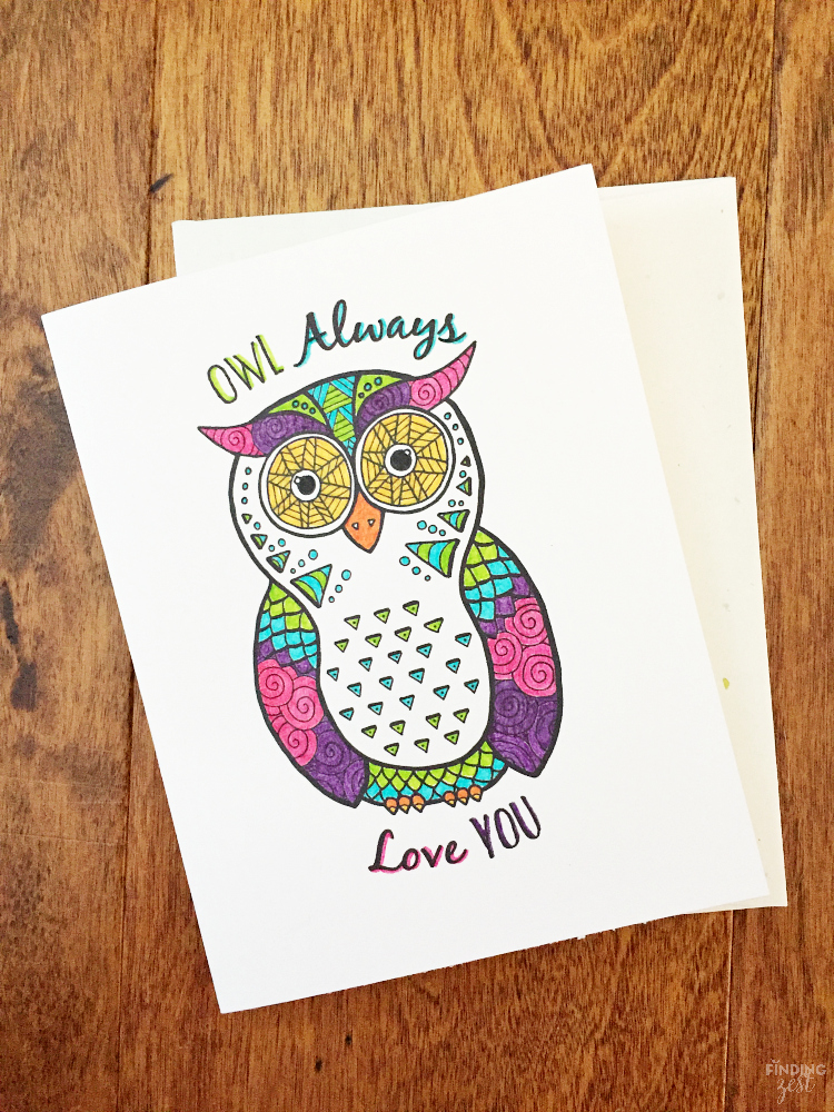remind your friends and family how much you care with this owl coloring page free printable - Printable Owl Pictures