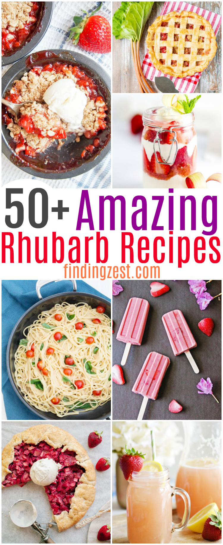 Not sure what to do with all that rhubarb you harvest? Get over 50 rhubarb recipes worth making during rhubarb season! These are the the best rhubarb recipes. From classic rhubarb desserts to healthy rhubarb recipes, this list has everything you need to use up that rhubarb!