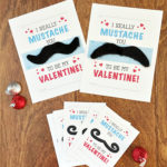 Mustache Valentine Cards Free Printable