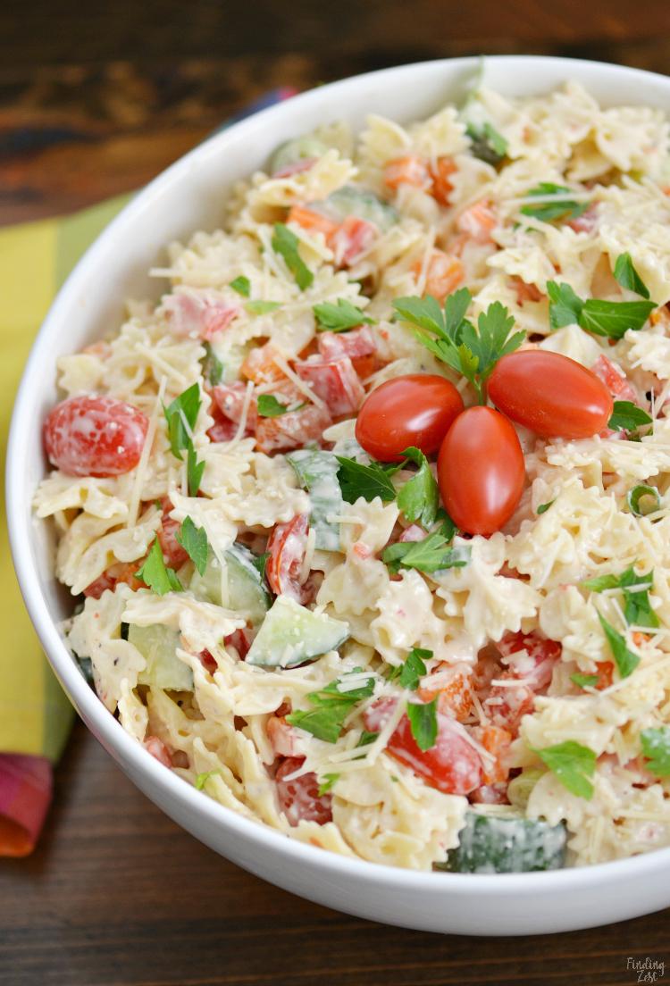Zesty Bow Tie Pasta Salad Recipe Dandk Organizer