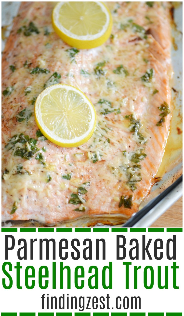 Parmesan baked steelhead trout recipe finding zest for Fish and cheese
