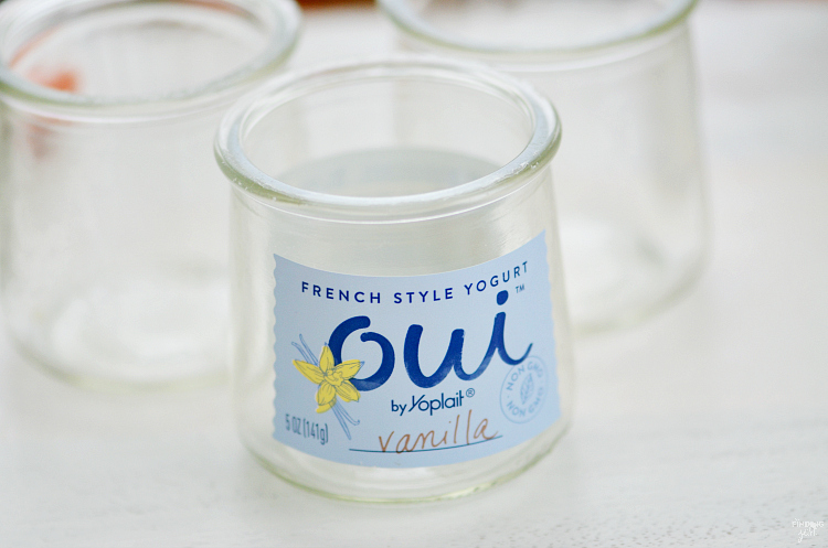 Not sure what to do with leftover Yoplait Oui glass jars? Look no further than these pudding cups!