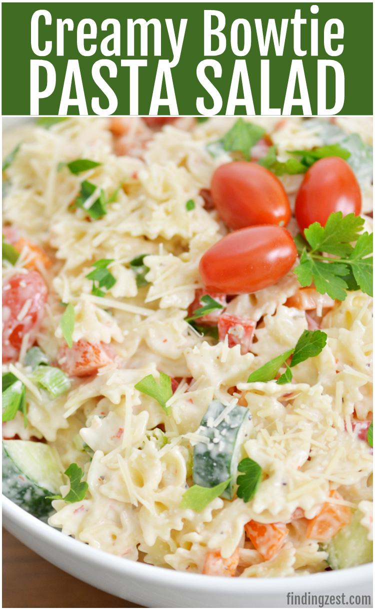 Creamy Bowtie Pasta Salad Finding Zest,Simple 5 Bedroom 2 Story House Plans