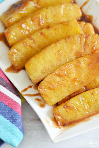Cinnamon Fried Pineapple Recipe + Easy Lunch Idea