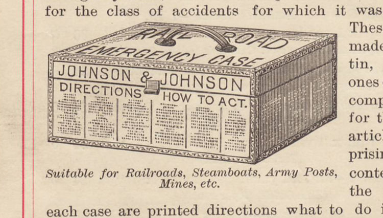 Johnson & Johnson Railroad First Aid Kit