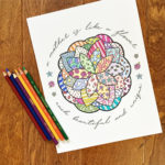Mother's Day Coloring Page with Flower
