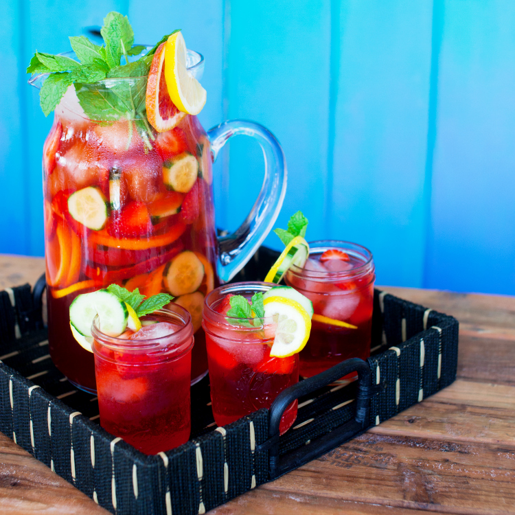 If you are looking for a unique alcoholic punch recipe, you'll love this Sparkling Pimm's Cup Punch recipe. It is loaded with flavor and includes fresh strawberries, blood oranges, cucumber and mint. Try this refreshing Pimm's No. 1 drink recipe this summer!