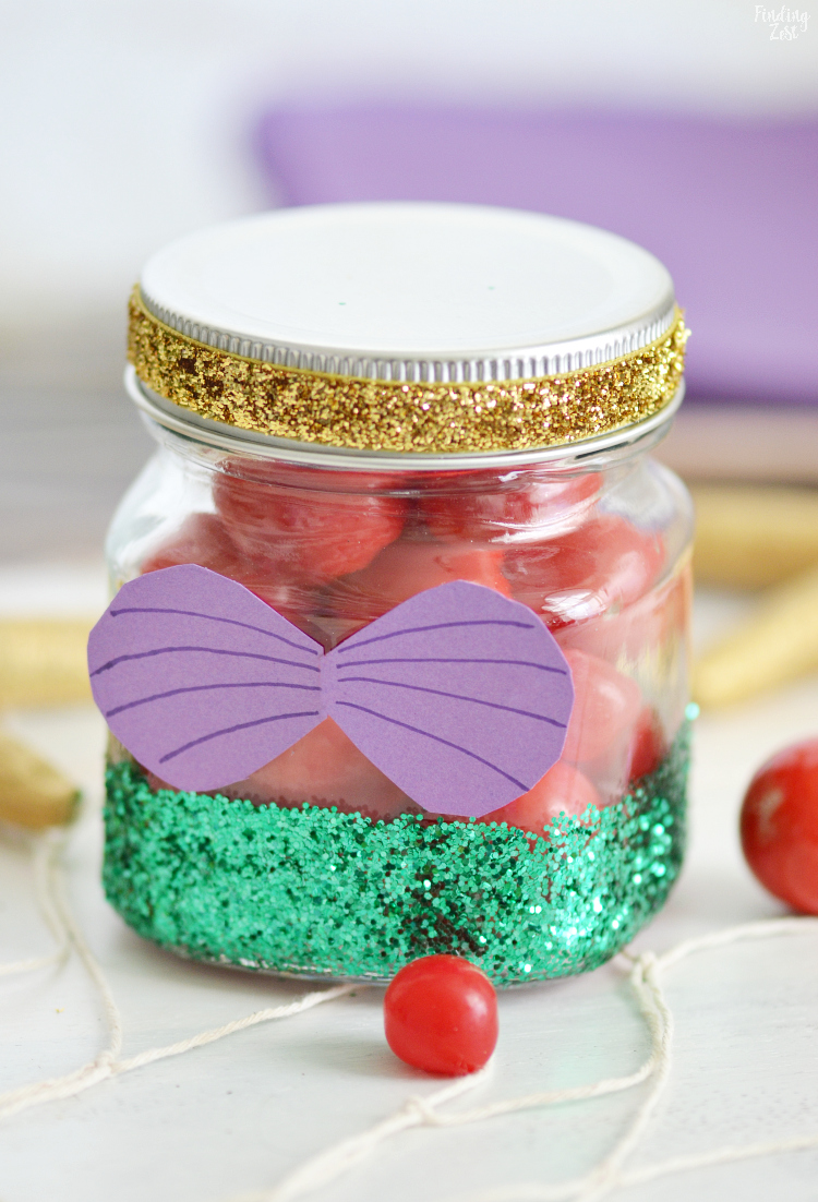 Little Mermaid Party Favors Diy Glitter Jar Finding Zest